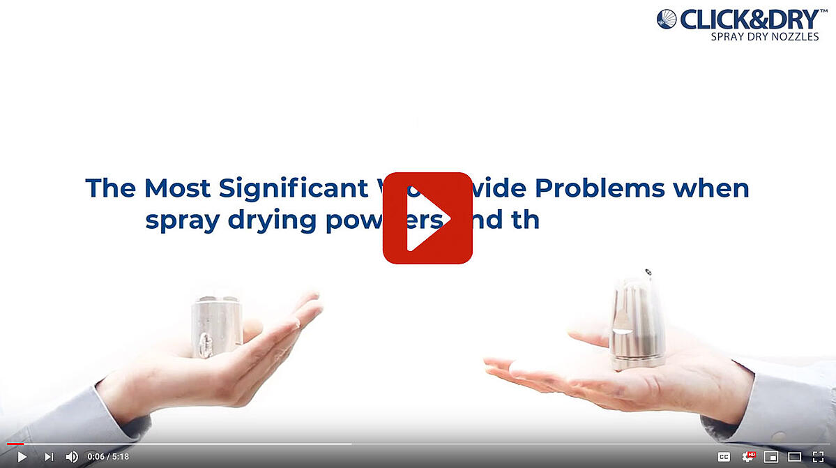 The Most Significant Worldwide Problems when spray drying powders and the solutions